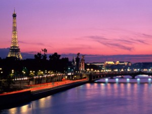 Sonnenuntergang in Paris - Frankreich
