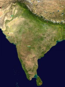 Indien - Satellitenbild