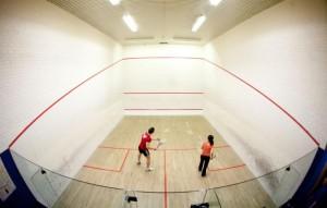 Squash Spielfeld