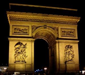 Triumphbogen in Paris-Frankreich