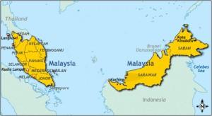 Karte von Malaysia