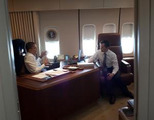 An Bord der Air Force One