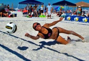 Beachvolleyball dive