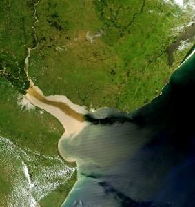 Der Rio De La Plata aus dem All