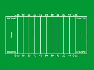 Spielfeld beim American Football
