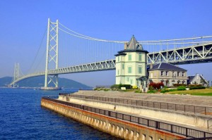 Die Akashi-Kaikyō-Hängebrücke