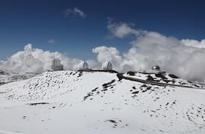 Schnee auf dem Vulkan Mauna Kea