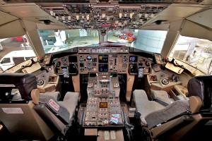 Cockpit einer Quantas Boeing 767
