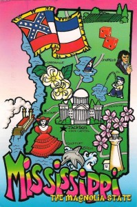 Alte Mississippi Postkarte