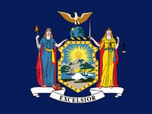 Flagge des Bundesstaat New York