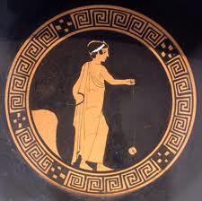 Jo Jo auf einer alten Griechischen Vase