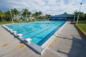Olympischen Schwimmbecken