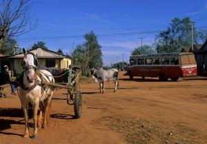 Typische Dorfszene in Paraguay