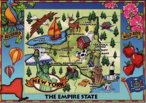 Alte Postkarte von New York