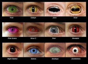 Kontaktlinsen als Partygimmik
