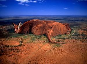 Der Ayers Rock als Känguru