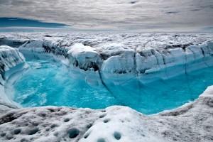 Eisfluss in Grönland