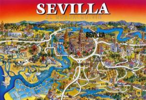 Alte Postkarte von Sevilla