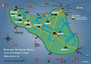 Karte von der Hallig Hooge