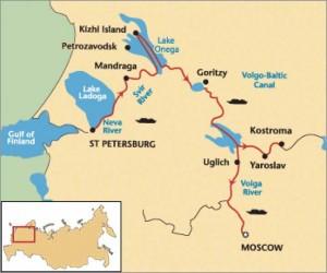 Karte vom größten See Europas