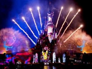 Tägliches Feuerwerk in Disneyland