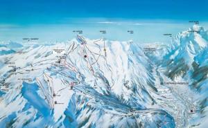 Skigebiete um den Mont Blanc