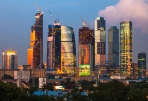 Das höchste Gebäude in Europa, der Mercury City Tower in Moskau